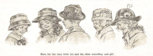 Schoolchildren hats 1915