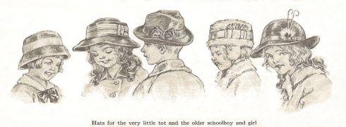 Schoolchildren hats 1915