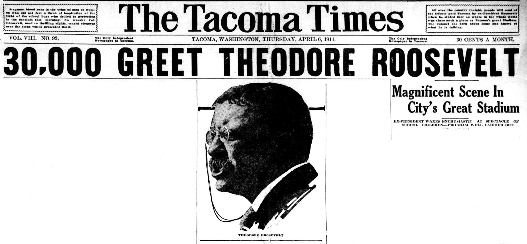 Tacoma Times Oct 4 1913 headline