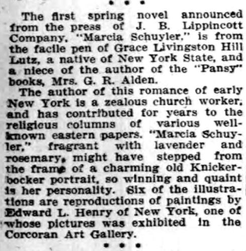 From The Buffalo Courier, March 1, 1908