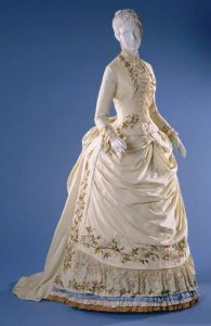 Wool Twill Embroidered Dress c 1885