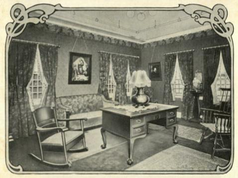 A 1906 Jordan Marsh advertisement for library furnishings