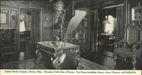A 1907 Jordan Marsh ad for furnishing a reception hall