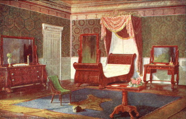 1912 advertisement for bedroom furniture from Flagg and Willis House Furnisher