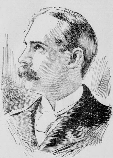 An artist's illustration of Reverend Francis E. Clark, 1897.