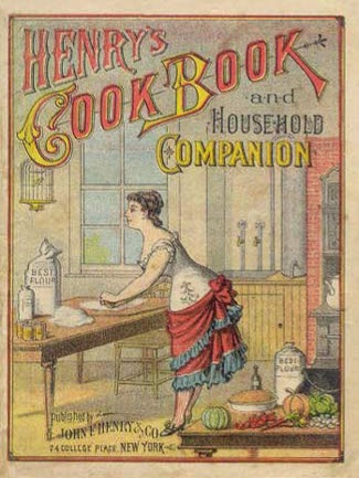 A cook book dated 1883