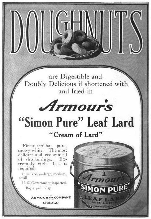 Donut lard ad-Boston Cooking School Magazine 1913