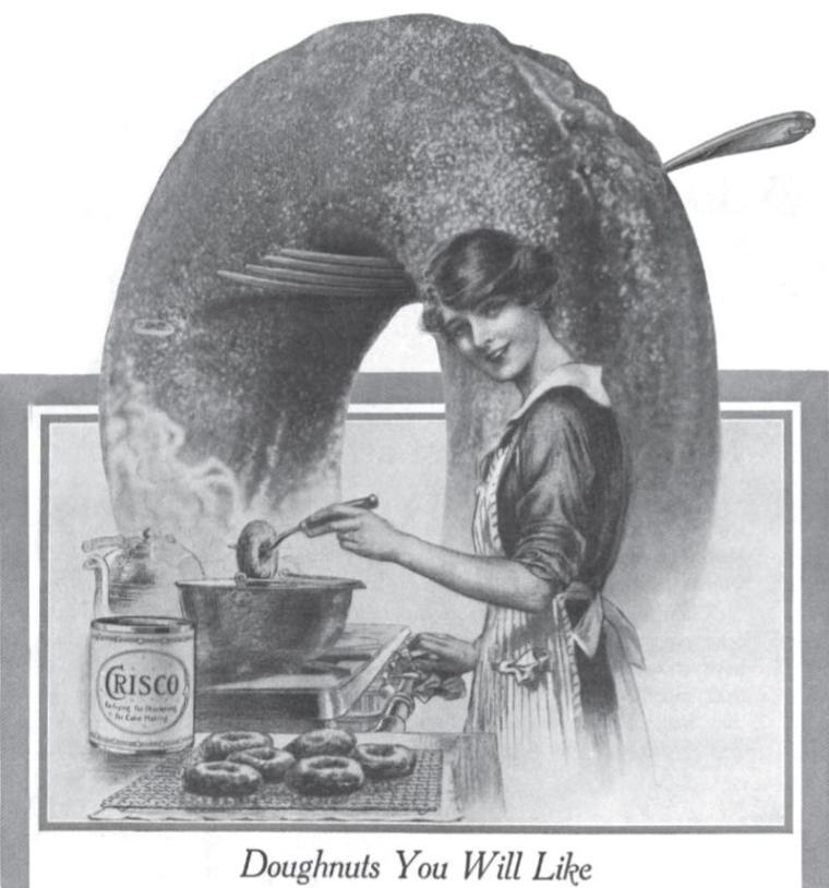 Donuts 1916 Crisco ad