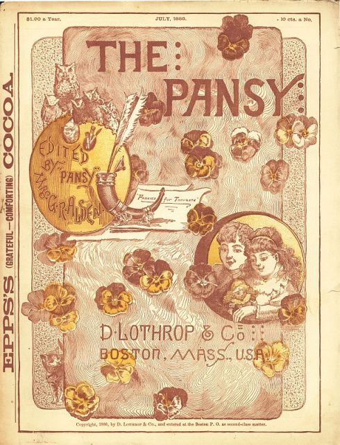 Pansy Cover 1886 Jul