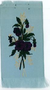 The Pansy Society membership badge. Found at Rollins College Archives