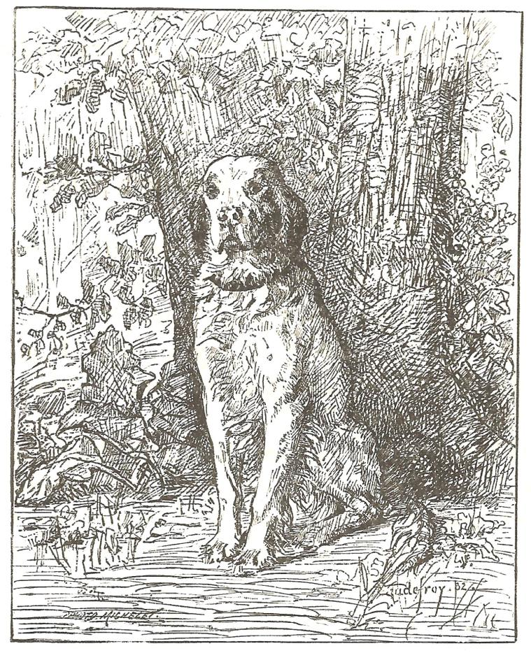 An original illustration for A Sevenfold Trouble, published in an 1887 edition of The Pansy.