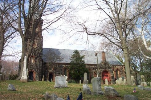 St. Andrews Church, Richmond. New York. Here Hannah Bogart Alden was buried, and Ross and Anna were baptized.