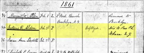 Membership records from the Dutch Reformed Church of New York.