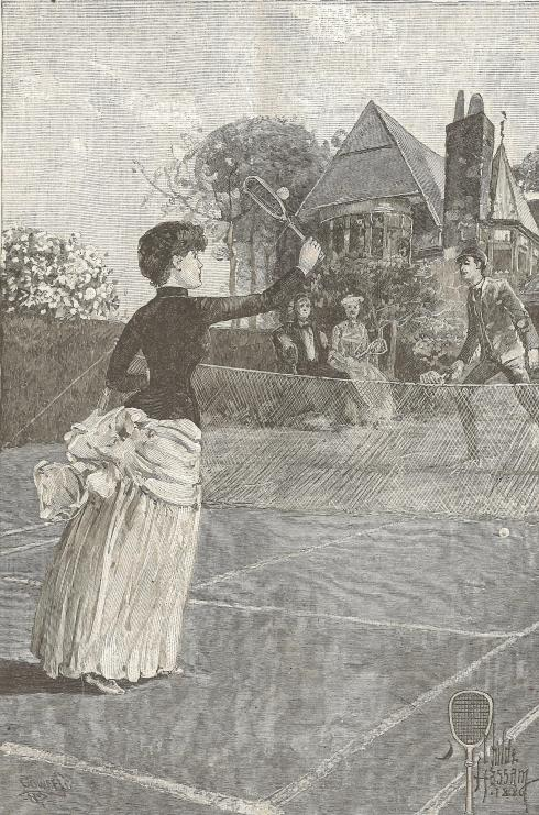 "Original illustration by Childe Hassam for the story ""Which Way?"""