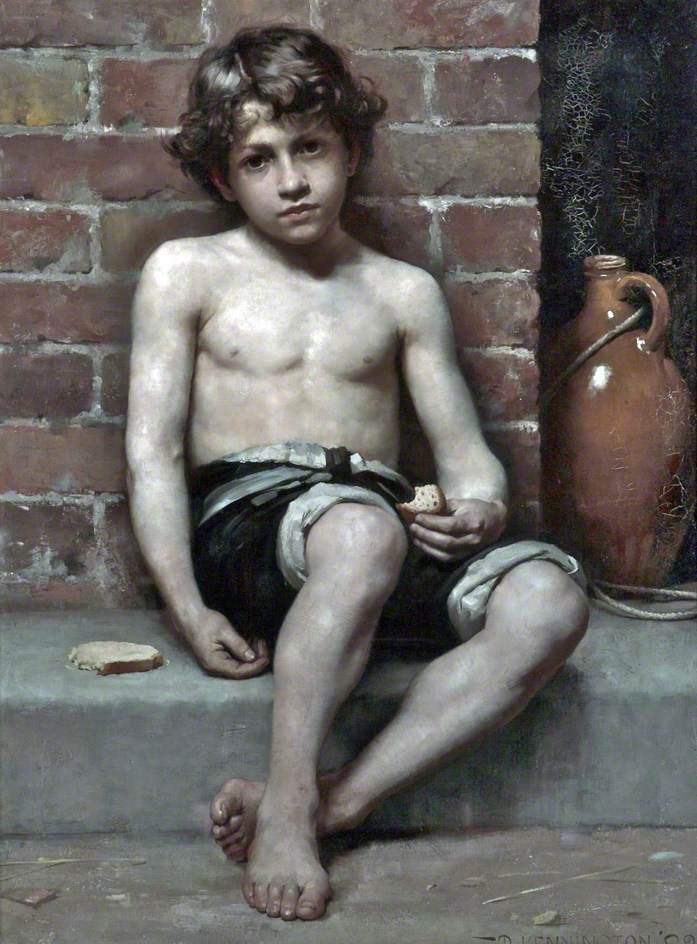 """Daily Bread"" by Thomas Benjamin Kennington, 1883."