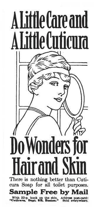 1916 ad for Cuticura Soap