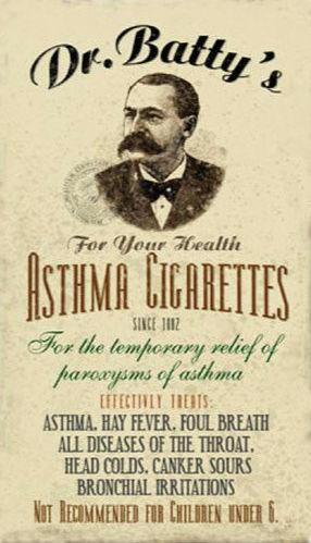 Asthma Cigarettes trade card undated