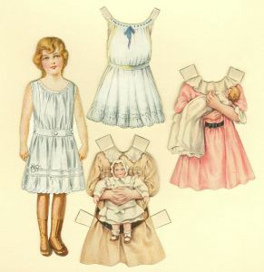 Paper doll from Sunshine Biscuits