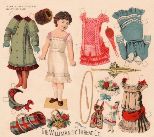 The Willimantic Thread Company published this paper doll