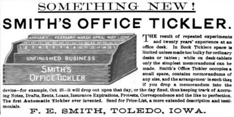 Ad for Office Tickler