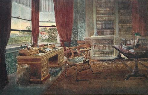 Charles Dickens' study, about 1922.