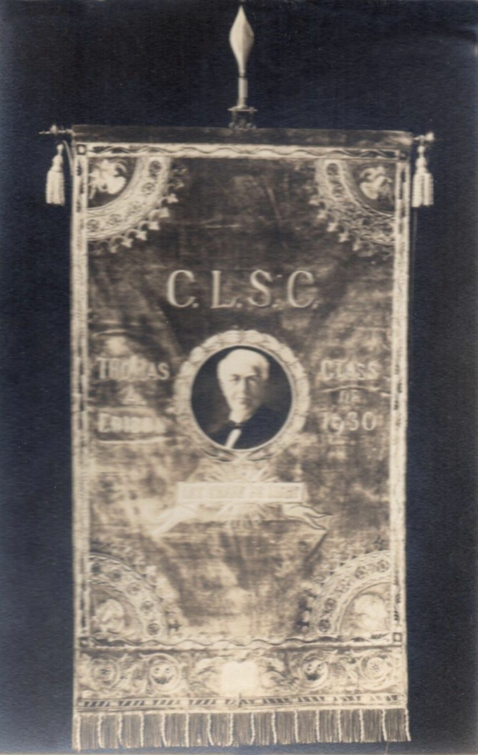 C.L.S.C. banner for the Edison Class of 1930.