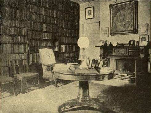Old photo of Ralph Waldo Emerson's study, Concord, Massachusetts