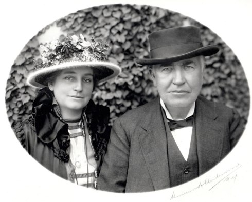 Mina Miller Edison and Thomas Edison