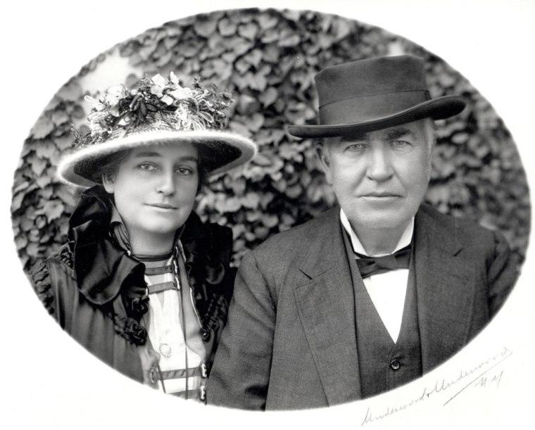 Mina Miller Edison and Thomas Edison