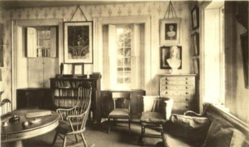 Another view of Emerson's study.