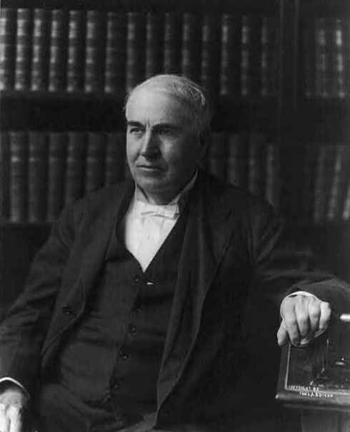 Thomas Edison in 1913.