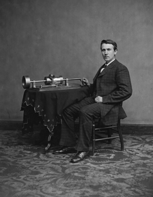 Thomas Edison, ca. 1880.
