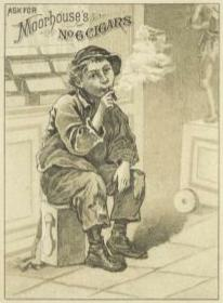 An undated ad for Moorhouse's Cigars