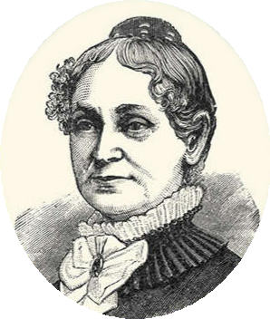 One of the images of Lydia Pinkham that adorned the company's labels over the years.