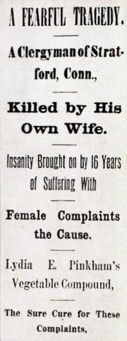"A Lydia Pinkham newspaper ad from the 1920s, cleverly disguised as ""real"" news."