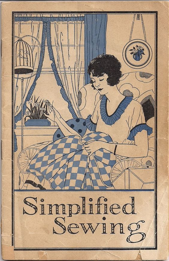 """Cover of Lydia Pinkham's pamphlet, """"Simplified Sewing."""""""