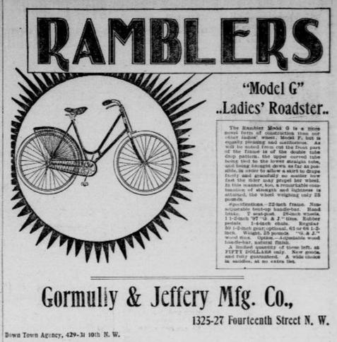 An 1897 ad for a ladies' bike.