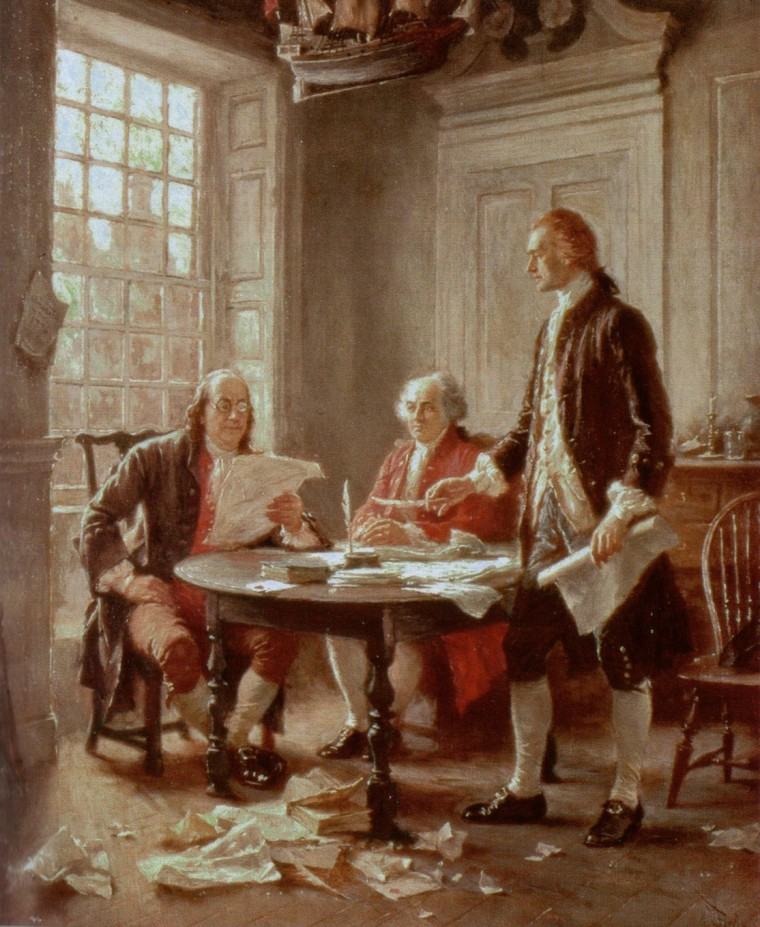 4thof July_Writing the Dec of Indep by Jean Leon Gerome Ferris 1900