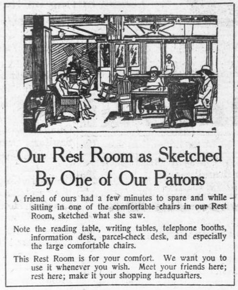 Newspaper ad for Lansburgh & Bro. department store in Washington DC, 1918.