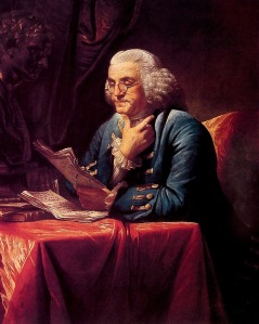 Benjamin Franklin, by artist David Martin, 1772