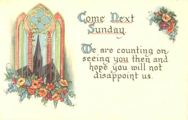 Come to Church card00594_fr