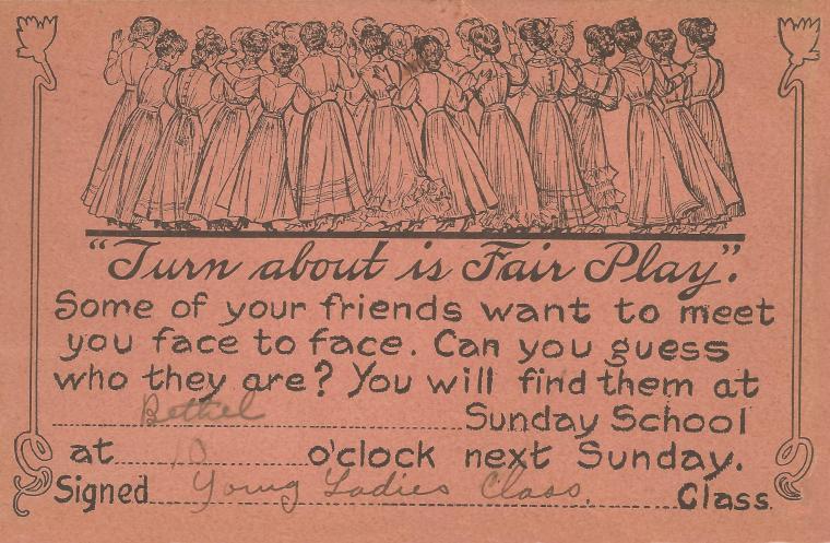 Come to Sunday School 1911