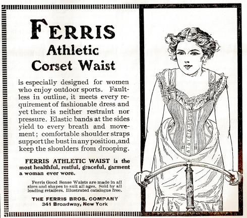A 1902 ad for athletic corsets.