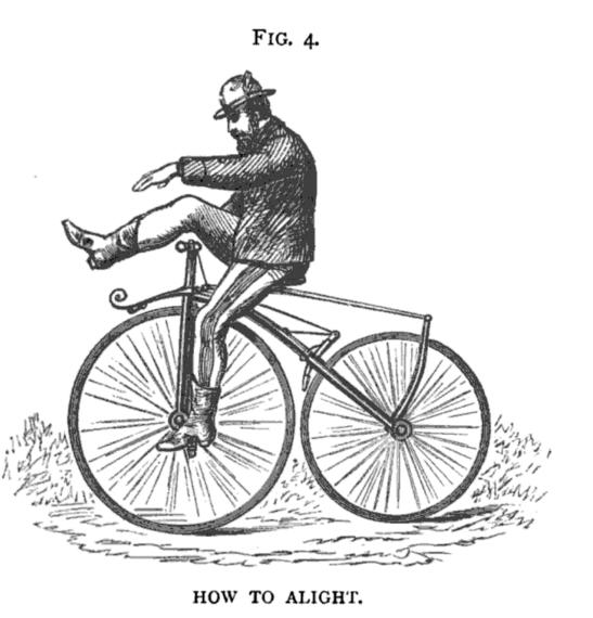 """Figure 4 from """"The Modern Bicycle"""" by Charles Spencer, 1876."""