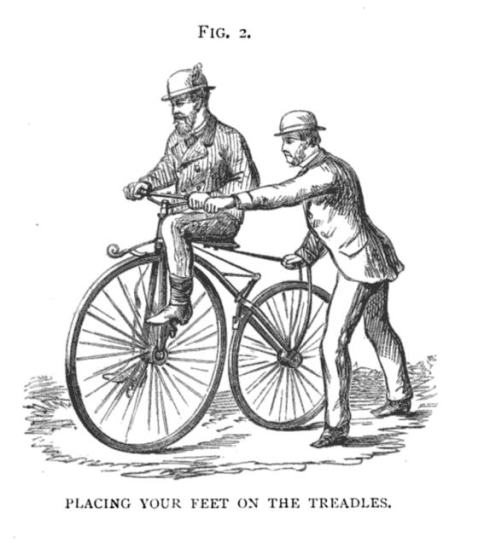 "Figure 2 from ""The Modern Bicycle"" by Charles Spencer, 1876."