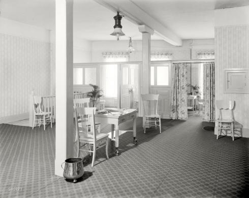The ladies' lounge at E. M. Bigsby department store, Detroit, Michigan, 1915.