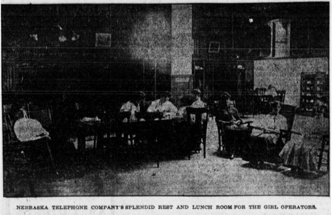 Telephone operators enjoying their rest room, 1906.