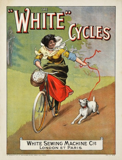 An early trade card targeting women bicycle riders.