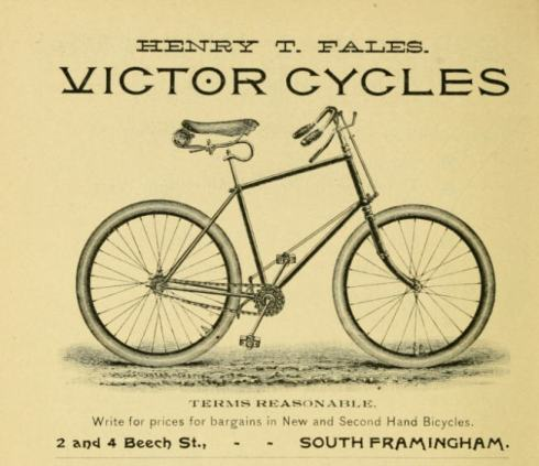 An 1893 ad for a cycle.