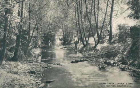 Bean Creek at Mount Hermon, 1910.
